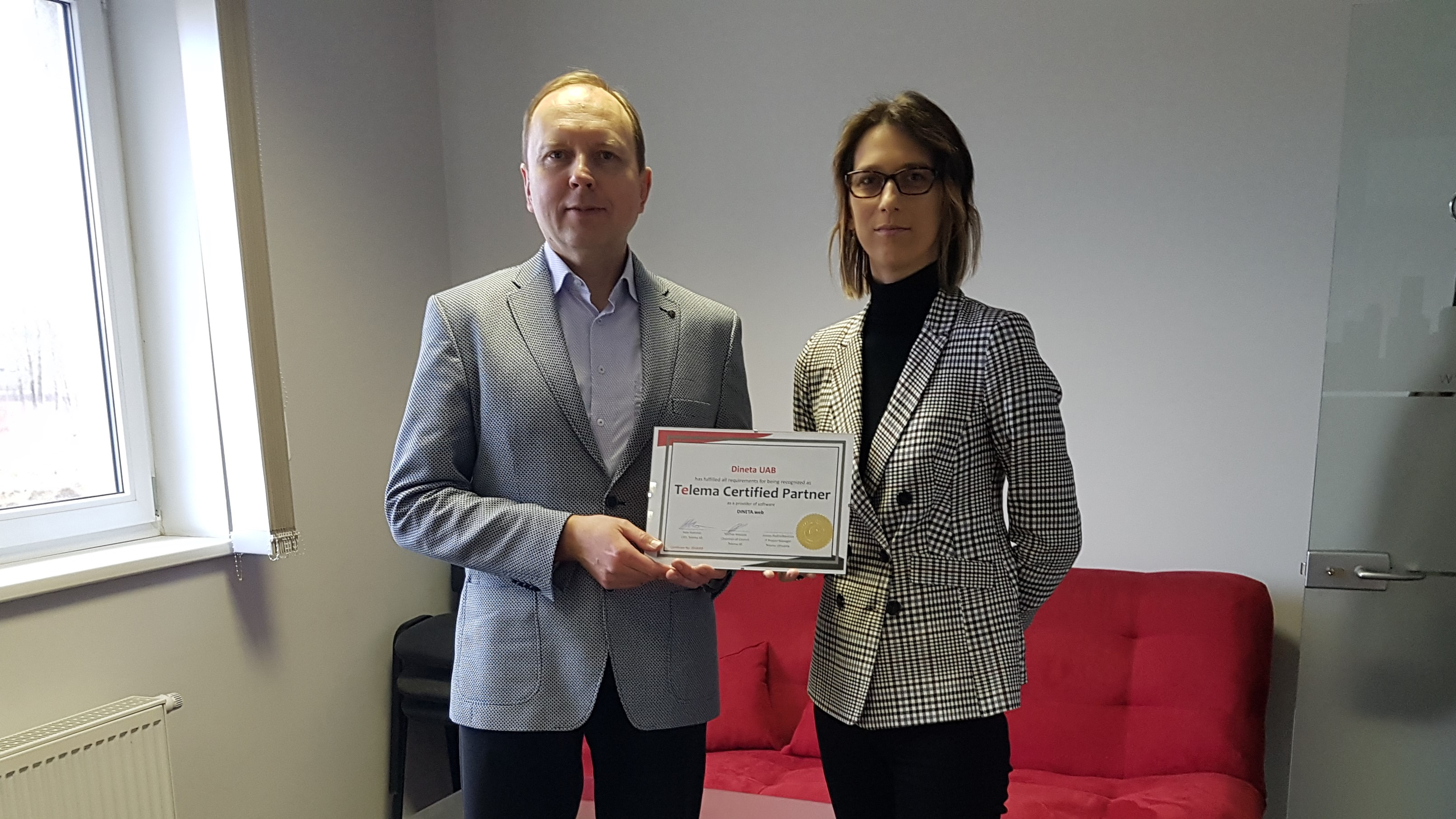 Dineta in Lithuania receives Telema certified partner status